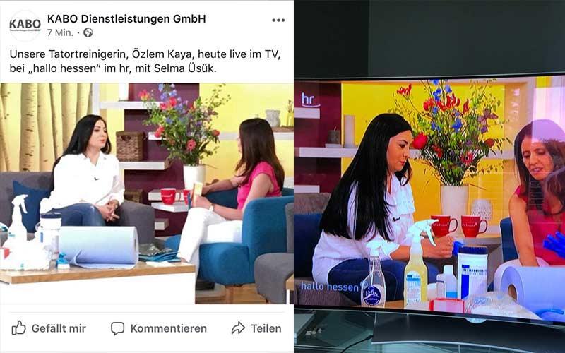 "Live Sendung  ""hallo Hessen """